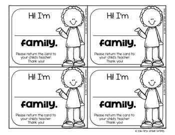 Dismissal Cards for Parents
