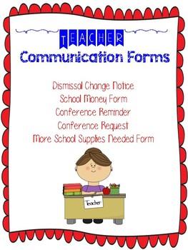 Dismissal Change & School Money Forms- Editable