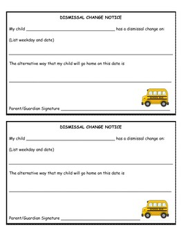 Teacher Communication Forms