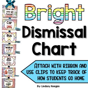 Bright Classroom Dismissal Chart