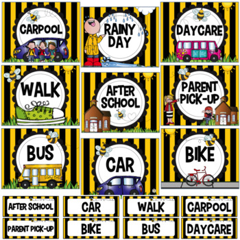 Dismissal Chart- Bee Theme- Editable