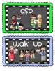 Dismissal Chart - Chalkboard theme