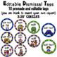 Dismissal Chart- Editable Circus Theme