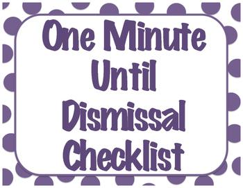 Dismissal Check List