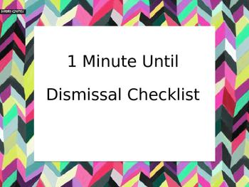 Dismissal Checklist Poster