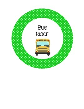 Dismissal Circle Clip Chart~Pink and Green Polka Dot Theme