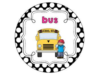 Dismissal Clip Chart {B&W Polka Dot!}