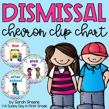 Dismissal Clip Chart {Bright Chevron!}