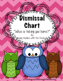 Dismissal Clip Chart (Owl Theme) or How Are You Going Home Chart