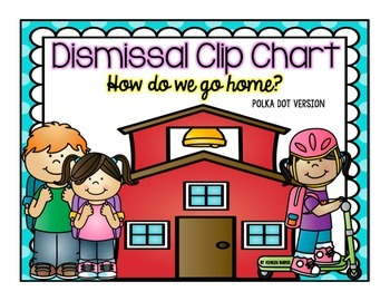 Dismissal Clip Chart- Polka Dot Version