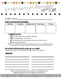 Dismissal Form (beginning of the year)
