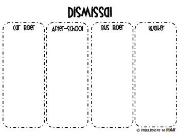 Dismissal Forms-Editable