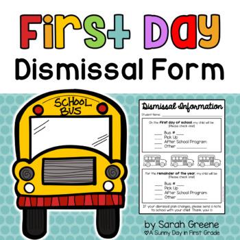 Dismissal Information {freebie!}