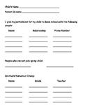 Dismissal Information
