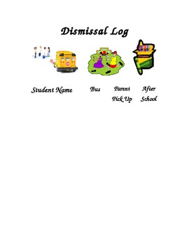 Dismissal Log Template