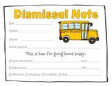 Dismissal Note