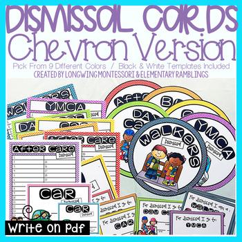 Dismissal Packet for Teachers Chevron Design