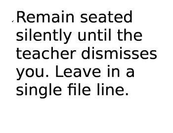 Dismissal Procedures Display