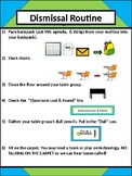 Dismissal Routine Poster - Lime & Teal