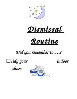 Dismissal Routine Poster for Kindergarten and Primary Grades