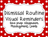 Dismissal Routine Visual Aid Cards