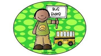 Dismissal Signs (Polka Dot Brights)