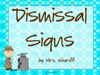 Dismissal Signs...How Am I Getting Home? - Detective Theme {EDITABLE}