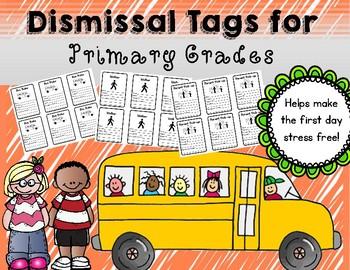 Dismissal Tags Freebie