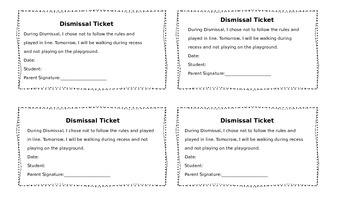 Dismissal Ticket