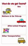 Dismissal Transportation Organizational Chart