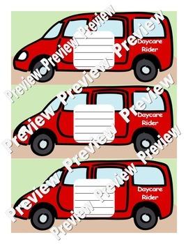 Dismissal Transportation Signs