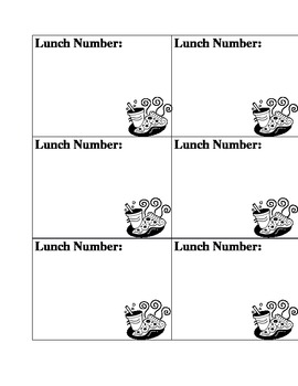 Dismissal and Lunch Tag