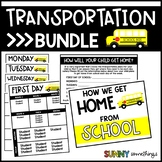 Dismissal and Transportation (Parent Form, Daily Lists, Class Graphing Activity)