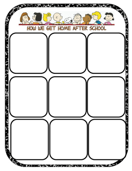 Dismissal time chart: Peanuts Gang Edition