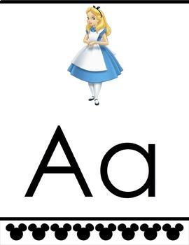 Disney Alphabet Banner (EDITABLE)