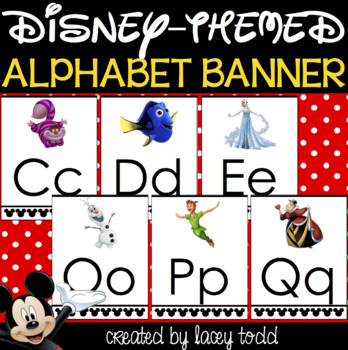 Disney Alphabet Banner (EDITABLE)