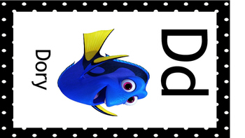 Disney Alphabet Cards Black  Borders UPDATED