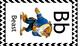 Disney Alphabet Cards Black Chevron Border