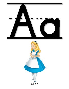 Disney Alphabet Letter Wall