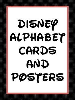 Disney Alphabet Posters