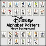 Disney Alphabet Posters -Gray