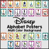 Disney Alphabet Posters -Multi Colored