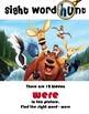 Disney Animated Sight Word Hunt set 4
