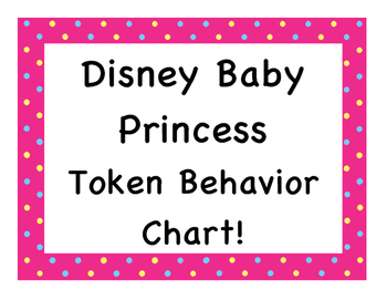 Disney Baby Princess Token Behavior Chart!