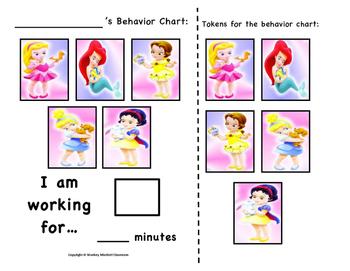 Disney Baby Princess Token Behavior Chart!