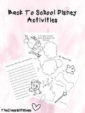 Disney Back To School Activites