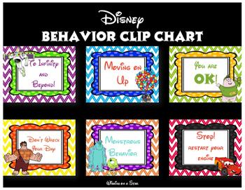 Disney Behavior Clip Chart Posters