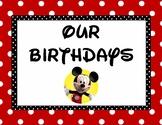 Disney Birthday Chart