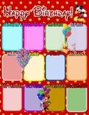 Disney Birthday Poster Chart