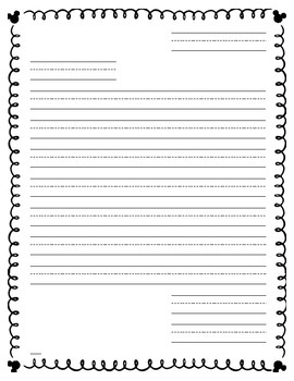Disney Border Friendly Letter Template By A Latte Fun In First Grade